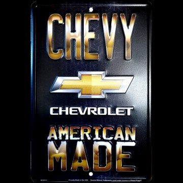 Skilt - Chevy American Made
